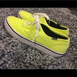 Neon Green Keds Size 8